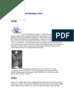 Sejarah Dan perkembangan Robot
