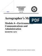 US Navy Course NAVEDTRA 14272 - Aerographer's Mate Module 4-Environmental Communications and Admi