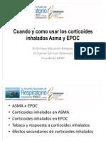 Ponencia del Dr Enrique Mascarós. El uso de los corticoides inhalados en Asma y Epoc realizada en el Congreso Nacional de Semergen