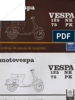 Manual Despiece Vespa 125nk 75pk