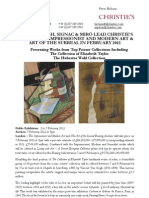 Feb 12 - Impressionist and Modern Art + the Art of the Surreal Evening Sales
