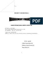 PROIECT SEMESTRIAL ECTS III - Analiza financiară Danro Botoșani