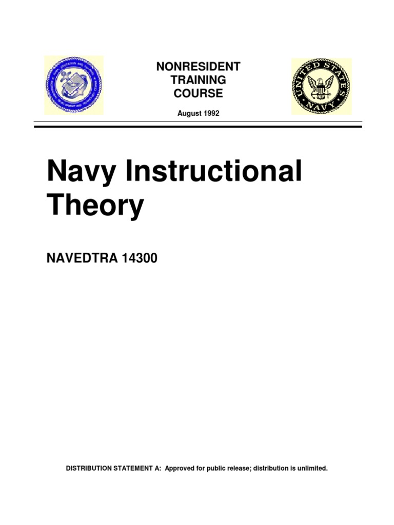 Us Navy Course Navedtra 14300 Navy Instructional Theory