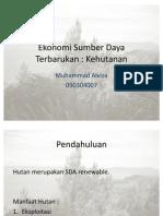 ekonomi SD hutan