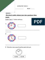 Evidens PBS Matematik Tahun 2 B3D5E1 Rekod Jam