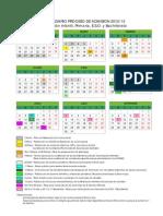 calendario admision 2012-13