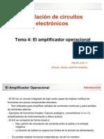 Tema 4 - El Amplificador Operacional