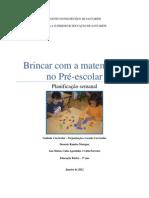 Planificação - Formas Geométricas pré-escolar
