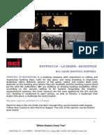 Hunting Lp -La Pampa- Argentina