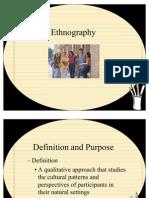 Ethnography Presentation