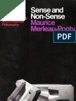 Sense Nonsense Merleau Ponty