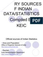 Indian Statistics Sources