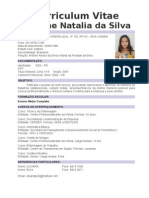 Curriculum Elisiane Natalia Da Silva