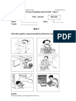Evidens PBS Pendidikan Moral Tahun 1 Nilai Hormat Band 1 - 6