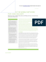 Optimising the mobile network for video delivery