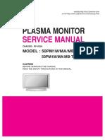 Service Manuals LG TV PLASMA 50PM1MA 50PM1MA Service Manual