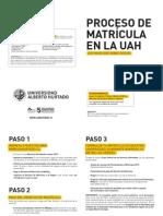 Pasos - Matrícula 2012