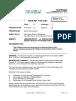 Absentee Report