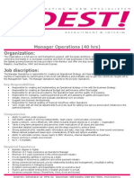 Manager Operations BOEST!