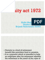 Gratuity Act 1972,Nm,Versha,Brijesh