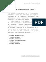 Aplicaciones de la Programación Lineal