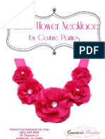 Couture Parties Fabric Flower Necklace DIY