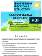 PKU3105 Understanding Direction and Instruction and Understanding Discourse