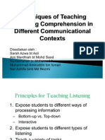 PKU3105 Techniques of Teaching Listening Comprehension in Different Communicational Contexts