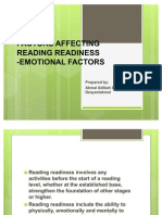PKU3105 Factors Affecting Reading Readiness
