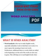 PKU3105 Word Analysis