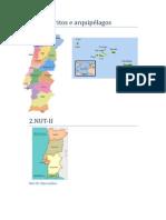 Distritos e arquipélagos