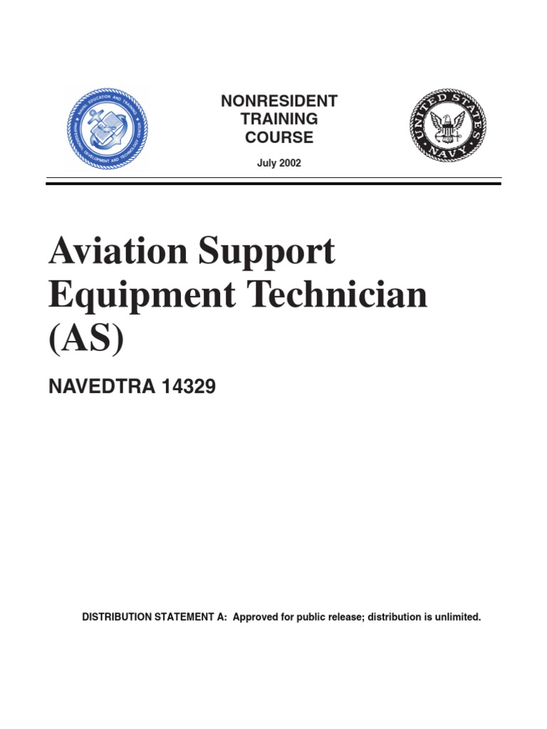US Navy Course NAVEDTRA 14329 - Aviation Support Equipment