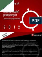 Katalog Szkoleń Praktycznych testerzy.pl 2012