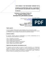 Sociología Política VIII, mov.soc 2012-I PROGRAMA