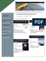 Boletín de novedades bibliográficas CINU Bogotá Enero