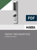 Simplex 3000 Installation Instructions Pkg 2586 (1)