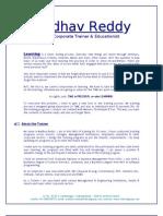 Madhav Reddy - Training Programs %26 Details