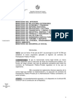 Decreto Reglamentario de la ley de Participación Público Privada