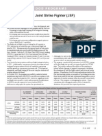 Section on the f 35 Joint Strike Fighter From