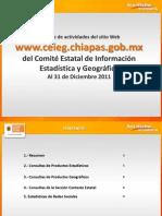 Reporte de estadísticas del sitio web del CEIEG, diciembre 2011
