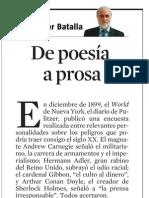 Xavier Batalla. de Poesía a Prosa