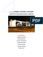 Management Control Systems - Infosys