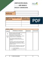 Planificacion Anual Mat 3º