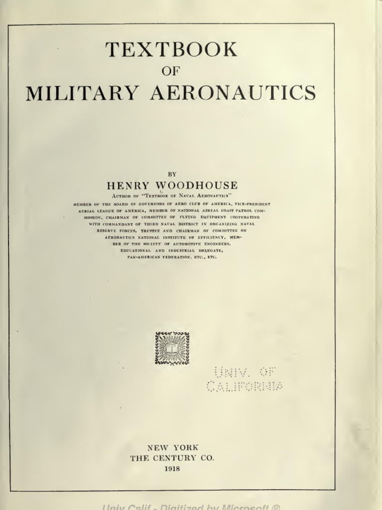 Textbook Of Military Aeronautics Trench Warfare Aircraft 215291serialcablewiring