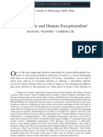 Natural Unity and Human Exceptional Ism - Manuel Mandel Cabrera Jr - Midwest Studies in Philosophy