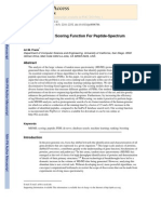 A Ranking-Based Scoring Function for Peptide-Spectrum Matches