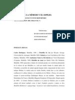 EL ARTE DE LA MÍMESIS Y EL ESPEJO C RODRÍGUEZ
