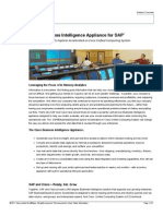 Cisco Business Intelligence Appliance for SAP Solution Brief