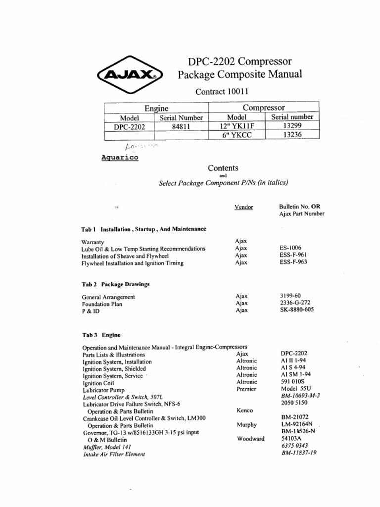 ajax gc600 700 900 manual y partes internal combustion engine piston rh scribd com Ajax Compressor Unit Ajax Compressor Unit