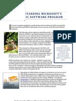 Understanding Microsoft's Academic Software Program